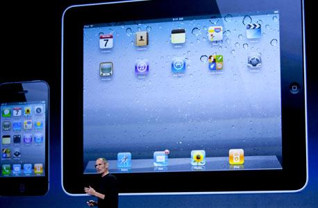 ג'ובס מציגאת העדכון למערכת ההפעלה לאייפון ולאייפד