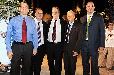 משמאל שי פרמינגר אבנר סטפק צבי סטפק דוד קליין ואילן רביב, צילום: רונן לידור