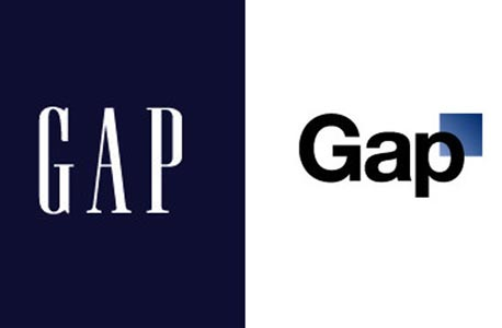 בגדי המלך החדשים: הלוגו החדש של גאפ מעורר סערה