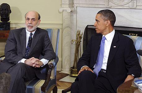 ברק אובמה בן ברננקי, צילום: בלומברג