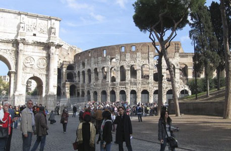 The Roman Colosseum. Photo: David Cohen