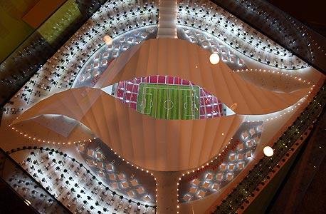 אצטדיון שמציעים לבנות בקטאר לקראת מונדיאל 2022. כל המונדיאל שם ייערך בשטח קטן יותר מ-50 קילומטר
