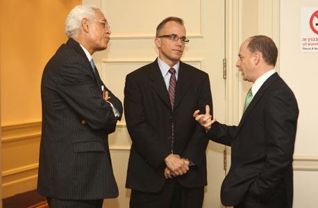מימין: הראל גילון, בריאן בלסקי ופדל גייט , צילום: אוראל כהן