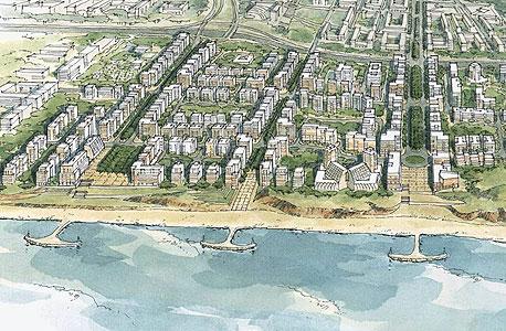 הדמייה של תוכנית מגורים בצפון תל אביב