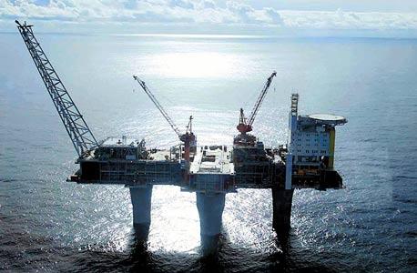 אסדת קידוח נורבגית בים הצפוני, צילום: אי פי אי