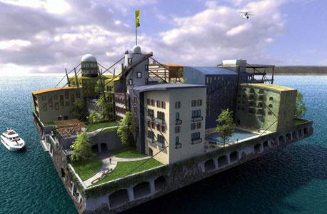 הדמיה ממיזם יישוב האוקייאנוסים , צילום: JackDayton