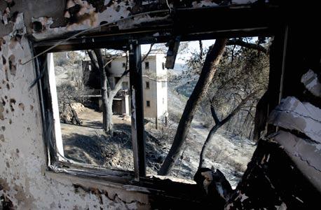 בית שנשרף בקיבוץ בית אורן