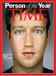 """צוקרברג על שער ה""""טיים"""". מחזיק במאגר תמונות עצום - ומנצל אותו"""