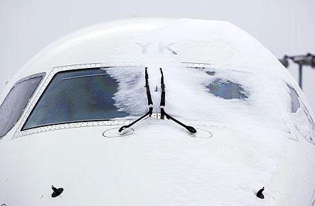 """בגלל השלג: חברות התעופה בארה""""ב צפויות להפסיד 600 מיליון דולר"""