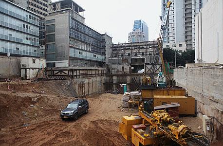 אתר הבנייה של מגדל שדל בתל אביב