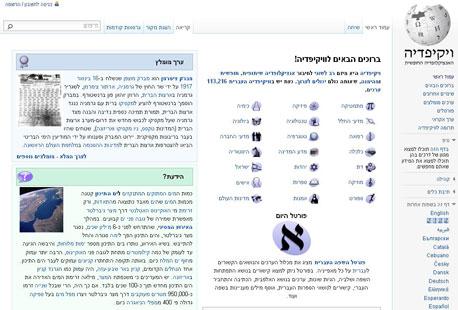 """ויקיפדיה העברית. """"פחות מ-20% מהמאמרים באנגלית"""""""