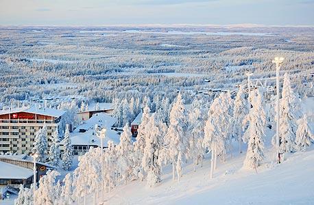 נוף בלפלנד, פינלנד. חופש ביטוי גבוה לאזרחים