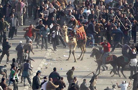 העימותים היום בקהיר, צילום: איי פי