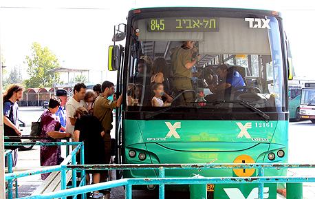 אוטובוס של אגד (ארכיון), צילום: מיכאל קרמר