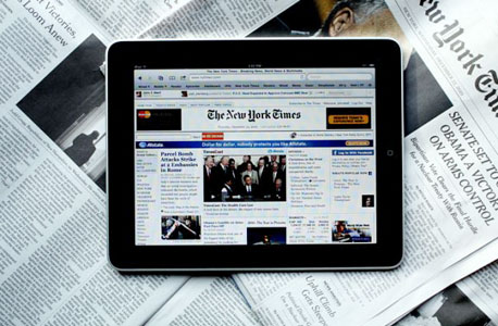 """""""ניו יורק טיימס"""" באייפד. 19.99 דולר לחודש ואתם שם"""