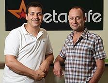 מימין: ירון פינקל, מנהל הפיתוח בישראל של מטה קפה, ואייל הרצוג, ממייסדי החברה