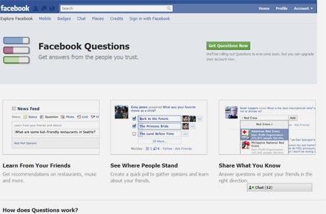 Questions, צילום מסך: Facebook