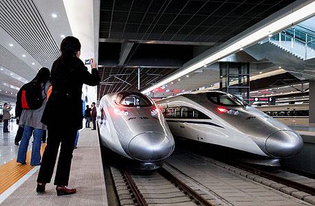 רכבת מהירה בסין, צילום: בלומברג