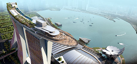 הפרויקט בסינגפור. קם בארבע שנים, בעבודה מסודרת של 18 אלף איש