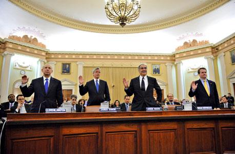 """מנהלי הבנקים הגדולים בארה""""ב בשימוע של הוועדה לחקר המשבר"""