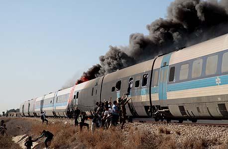 תאונת הרכבת ליד שפיים בדצמבר האחרון