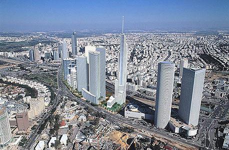 """הדמיה של תוכנית מע""""ר צפון של עיריית תל אביב. הסטת הקרן תאפשר בנייה לגובה"""
