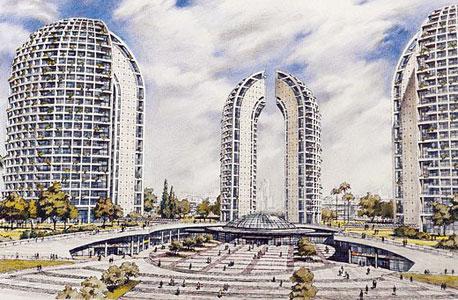 הדמיה של התוכנית לבניית שלושה מגדלים בכיכר המדינה