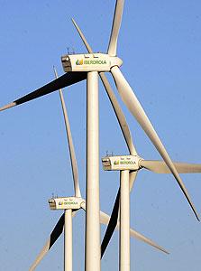 טורבינות רוח המופעלות על ידי איברדולה, צילום: בלומברג