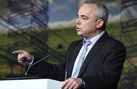 יובל שטייניץ נואם בוועידה , צילום: עמית שעל