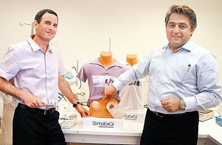 """דוד חנוכה, מנכ""""ל Stimatix GI (מימין) ומאיר אור, מוביל הפיתוח"""