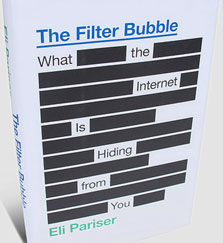 "עטיפת הספר ""The Filter Bubble: What the Internet is Hiding From You"""
