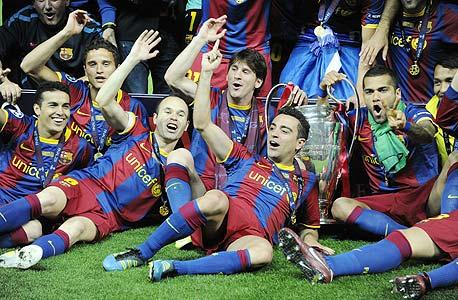 שחקני ברצלונה חוגגים את אליפות אירופה עם בונוס של 20 מיליון יורו