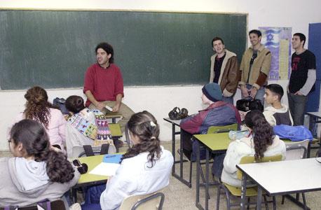 כיתת לימוד, מורי הקבלן נקלטים לעבודה ומפוטרים מדי שנה, צילום: מאיר אזולאי