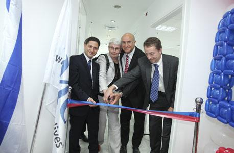 """השקת מרכז מו""""פ של EMC בבאר שבע ב-2011, צילום: שניר איזיביצקי"""