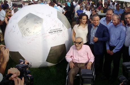 סמי ועידן עופר בטקס הנחת אבן הפינה של אצטדיון עופר בחיפה ב-2010