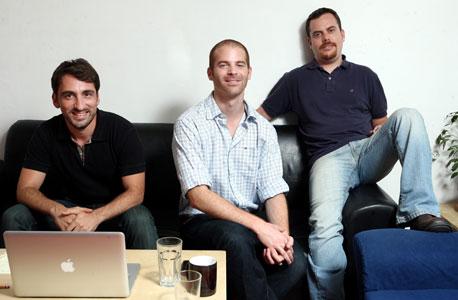 מימין: ברק כהן, עודד רגב, רוני מיכאלי