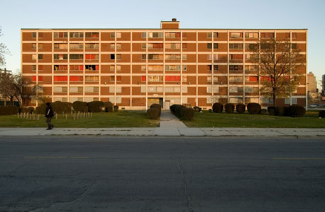 פרויקט לאוכלוסייה ממעמד סוציו־אקונומי נמוך בדרום שיקגו. אלימות במשפחה קשורה להיעדר נוף ירוק