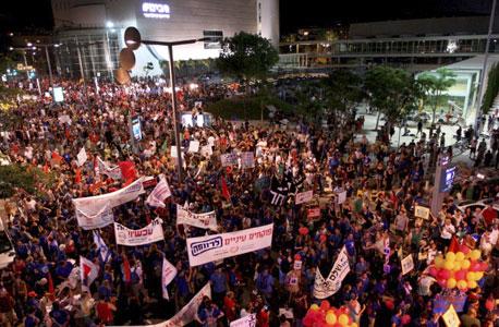 """העצרת החברתית במוצ""""ש, תל אביב"""
