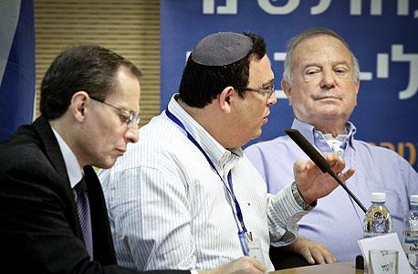 ועדת טרכטנברג מנואל טרכטנברג  דב לאוטמן (מימין) שי פירון יוגין קנדל, צילום: מיקי אלון
