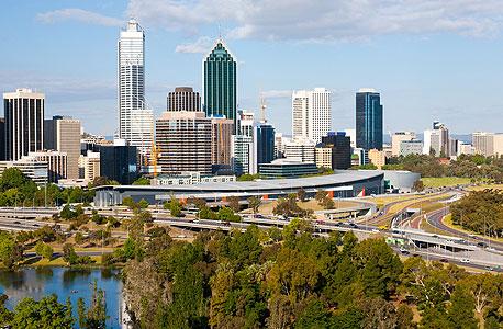 העיר פרת'. ממשלת אוסטרליה המערבית החליטה להגביל את יצוא הגז