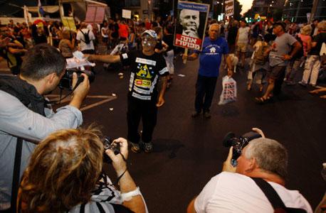 מחאה הפגנה מיליון תל אביב כיכר הבימה , צילום: נמרוד גליקמן