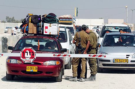 מחסום צבאי בכניסה לירושלים (ארכיון)