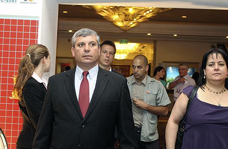 השר שלום שמחון מגיע לוועידה, צילום: אריאל בשור
