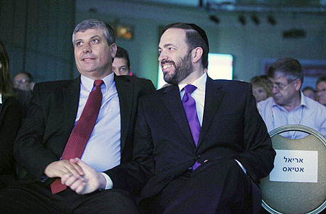 השרים אטיאס ושמחון, צילום: עמית שעל