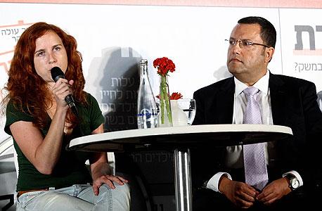 משה ליאון וסתיו שפיר, צילום: עמית שעל