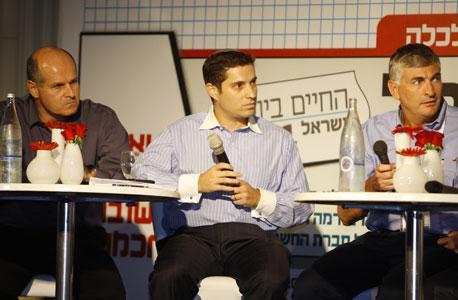 מימין: יגאל לנדאו, בנימין זומר ואוהד מראני, צילום: נמרוד גליקמן