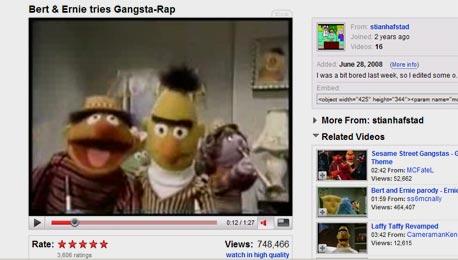 עמוד ביוטיוב. 375 מיליון מבקרים בשנה