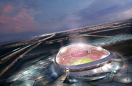 אילוסטרציה של אצטדיון שייבנה בקטאר, צילום: בלומברג