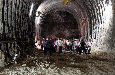 כריית המנהרה לרכבת המהירה בקו תל אביב - ירושלים