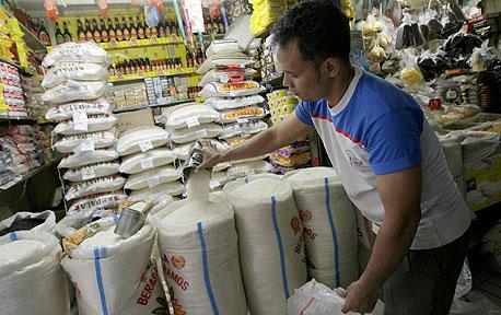 שקי אורז במזרח אסיה (ארכיון), צילום: בלומברג